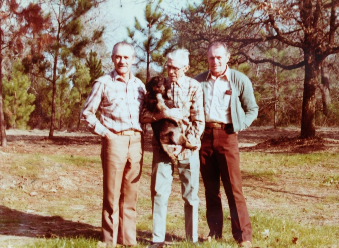 "Opa, ""Uncle Dan,"" and Albert Lange, Opa's cousin"